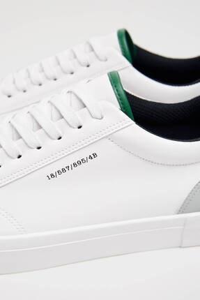 Bershka Erkek Beyaz Topuğu Renkli Detaylı Spor Ayakkabı 3