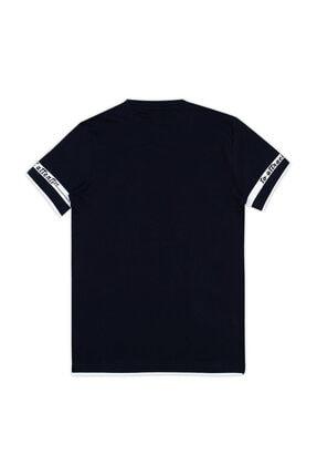 Le Ville Baskılı Bisiklet Yaka T Shirt Erkek Çocuk T SHİRT 57762611 1