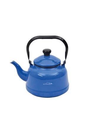 Nurgaz Ng 180k Campout Emaye Çaydanlık Set Mavi 1