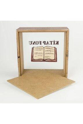 PALTO TASARIM Kitap Fonu Ahşap Ve Cam Tasarımlı Kumbara 2