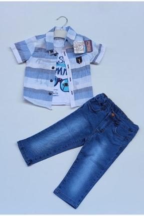 jibau Erkek Çocuk Mavi Kotlu Takım 0