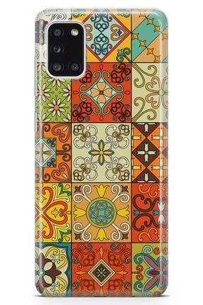 Melefoni Samsung Galaxy A31  Patchwork Serisi Callie Kılıf 0