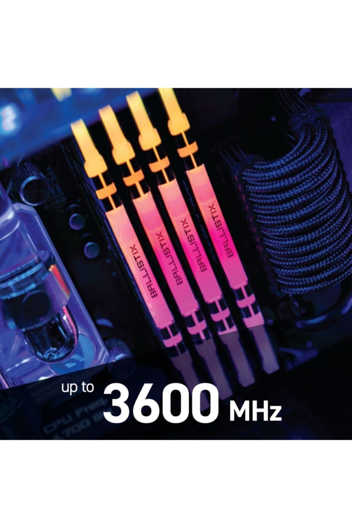 BALLISTIX Crucial Ballistix Bl2k8g36c16u4bl 16 Gb Ddr4 3600mhz Rgb Pc Ram Bellek Cl16(2x8gbkit)
