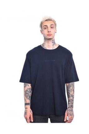 Troublemaker Erkek Lacivert Basıc Tişört 0