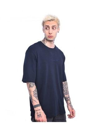 Troublemaker Erkek Lacivert Basıc Tişört 2