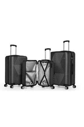 SERAMİKCİ Siyah Polo 3 lü Valiz Set 1
