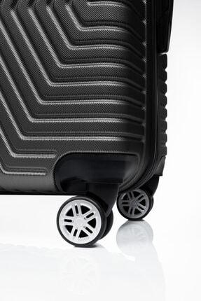SERAMİKCİ Siyah Polo 3 lü Valiz Set 2