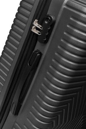 SERAMİKCİ Siyah Polo 3 lü Valiz Set 3