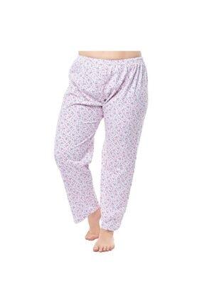 Seher Yıldız Kadın Beyaz Desenli Uzun Pijama Altı 0