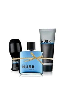 Avon Musk Marine Edt 75 Ml Erkek Parfüm 3 Lü Set 0