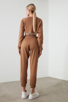 TRENDYOLMİLLA Camel Paperbag Spor Eşofman Altı TWOAW21EA0029 3
