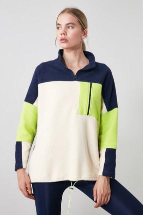 TRENDYOLMİLLA Renk Bloklu Cep Detaylı Spor Sweatshirt TWOAW21SW0170 2