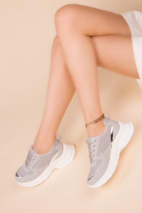 Soho Exclusive Buz-Gümüş Kadın Sneaker 15217 1