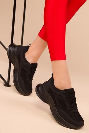 Soho Exclusive Siyah-Siyah Kadın Sneaker 15218 1