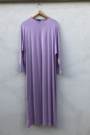 Liva Basıc Penye Elbise Lila 0