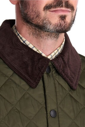 Barbour Erkek Yeşil Liddesdale® Kapitone Regular Fit Mont 3