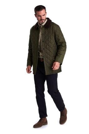 Barbour Erkek Yeşil Liddesdale® Kapitone Regular Fit Mont 4