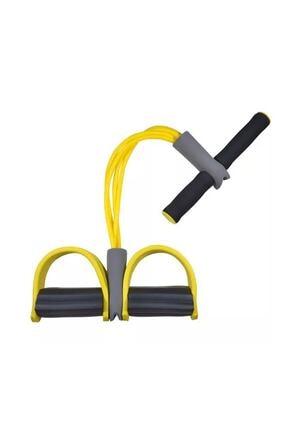 Clifton Egzersiz Aleti El Ayak Egzersiz 4'lü Direnç Lastiği Sarı 0