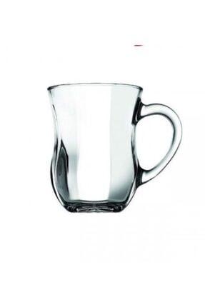 Paşabahçe Dem Optik Kulplu Çay Bardak 6'lı 0