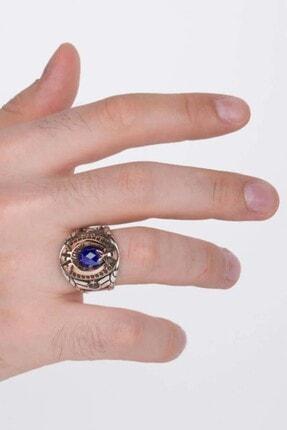 Anı Yüzük Mavi Taşlı Pençeli Jandarma Uzman Çavuş Yüzüğü 3