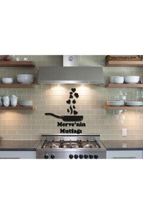 LazerAtölye Ahşap Siyah Dekoratif Tava Mutfak Süsü 0