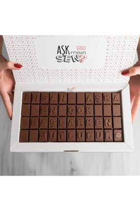 Hediyesepeti Yeni Aşıklara Hediye Romantik Mesajlı Harf Çikolata 3