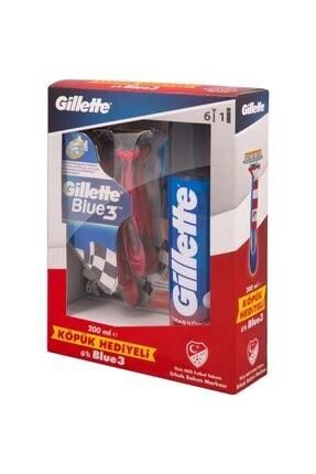 Gillette Milli Takım Özel Seri Blu3 6 Adet Tıraş Köpüğü 200 ml 0