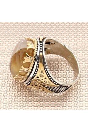 DIGERUI Yemen Akik Erkek Gümüş Yüzük-4 1