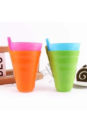Ati Plastik Bebek ve Çocuk Sip Süt Kupası  3 Adet Renkli Bardak Kutulu 1