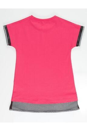 Mushi Kız Çocuk Fuşya Unicorn Rock Baskılı Elbise 3