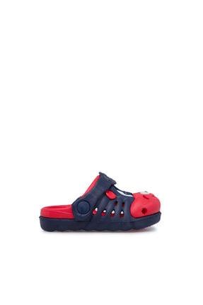 Akınalbella Unisex Lacivert Kırmızı Sandalet 4