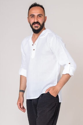 İpekçi Otantik Cotton Kapşonlu Erkek Gömlek 1