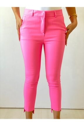 ElModa Boutique Kadın Fuşya Paça Detaylı Pantolon 1