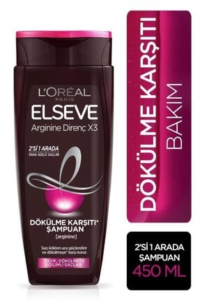 Elseve L'oréal Paris Komple Direnç Dökülme Karşıtı 2'si 1 Arada Şampuan 450 ml 0