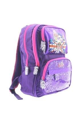 Lol Kız Çocuk Dört Bölmeli Mor Rock Okul Çantası Ve Kalemlik Seti 20429 2