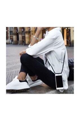 Atalay Iphone 7 Plus / 8 Plus Şeffaf Boyun Askılı Siyah Kılıf 3