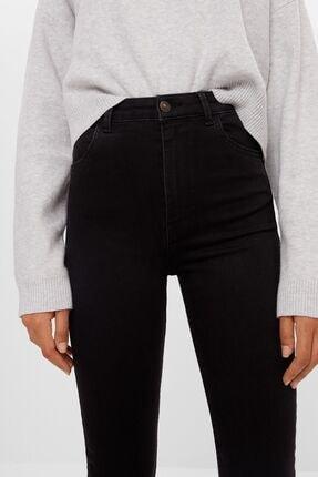 Bershka Kadın Siyah Süper Yüksek Bel Jean 4