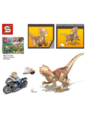 e-life Es1113 Lego Blok Yapı Jurassic Park Jurassic World Serisi 4 Paket Bir Arada 3