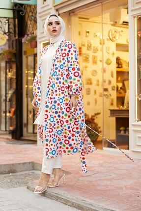 Elifnur Kadın Renkli Kimono 8946-13 0