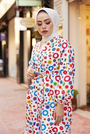 Elifnur Kadın Renkli Kimono 8946-13 1