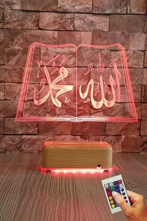 Vipyol Allah Muhammed Yazılı 3d Led 16 Renk Gece Lambası 0
