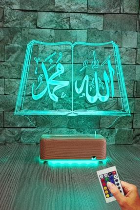 Vipyol Allah Muhammed Yazılı 3d Led 16 Renk Gece Lambası 1
