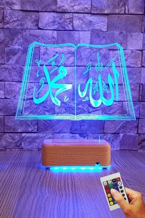 Vipyol Allah Muhammed Yazılı 3d Led 16 Renk Gece Lambası 2
