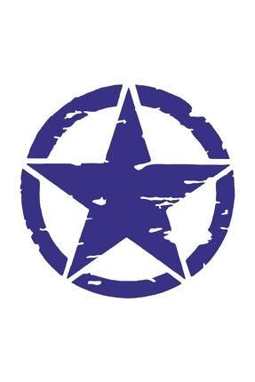Sticker Fabrikası Askeri Yıldız Motosiklet Off Road Offroad U.s Army Sticker 00677 8x8 Cm 0