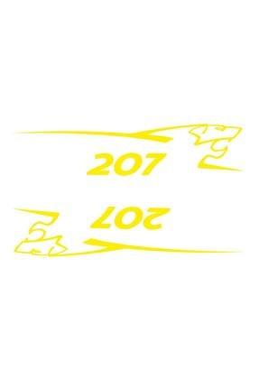 Sticker Fabrikası Peugeot 207 2 Adet Takım Oto Sticker 00688 25x5,5 Cm 0