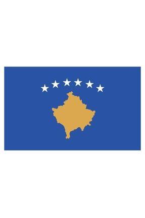 Sticker Fabrikası Kosova Bayrağı Sticker 00716 9x5 Cm 0