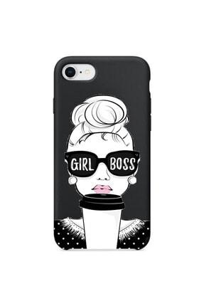 Mobildizayn Apple Iphone Pro Max Girl Boss Yazılı Silikon Kılıf 0