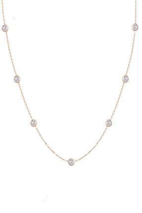 Trend Silver Gümüş Rose Zirkon Taşlı Tiffany Set Sıra Taşlı Takım Seti 1