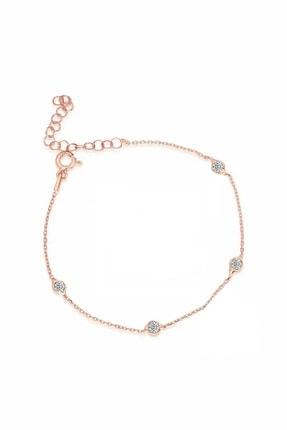 Trend Silver Gümüş Rose Zirkon Taşlı Tiffany Set Sıra Taşlı Takım Seti 2