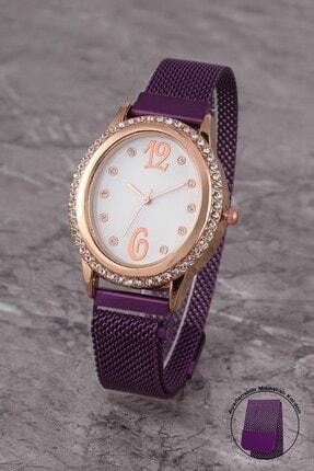 Polo55 Plkhm009r04 Kadın Saat Taşlı Şık Kadran Mıknatıslı Hasır Kordon 0